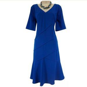 14W 1X▪️SEXY ROYAL BLUE TIERED DRESS Plus Size